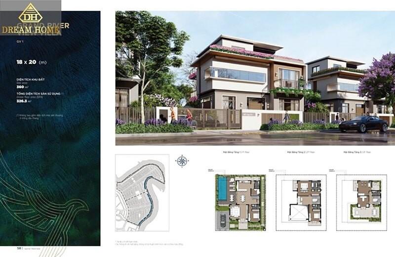 Biệt thự đơn lập dự án Aqua City Đồng Nai