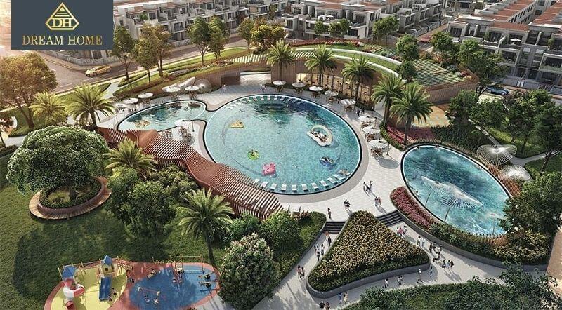 hồ bơi vô cực của aqua city
