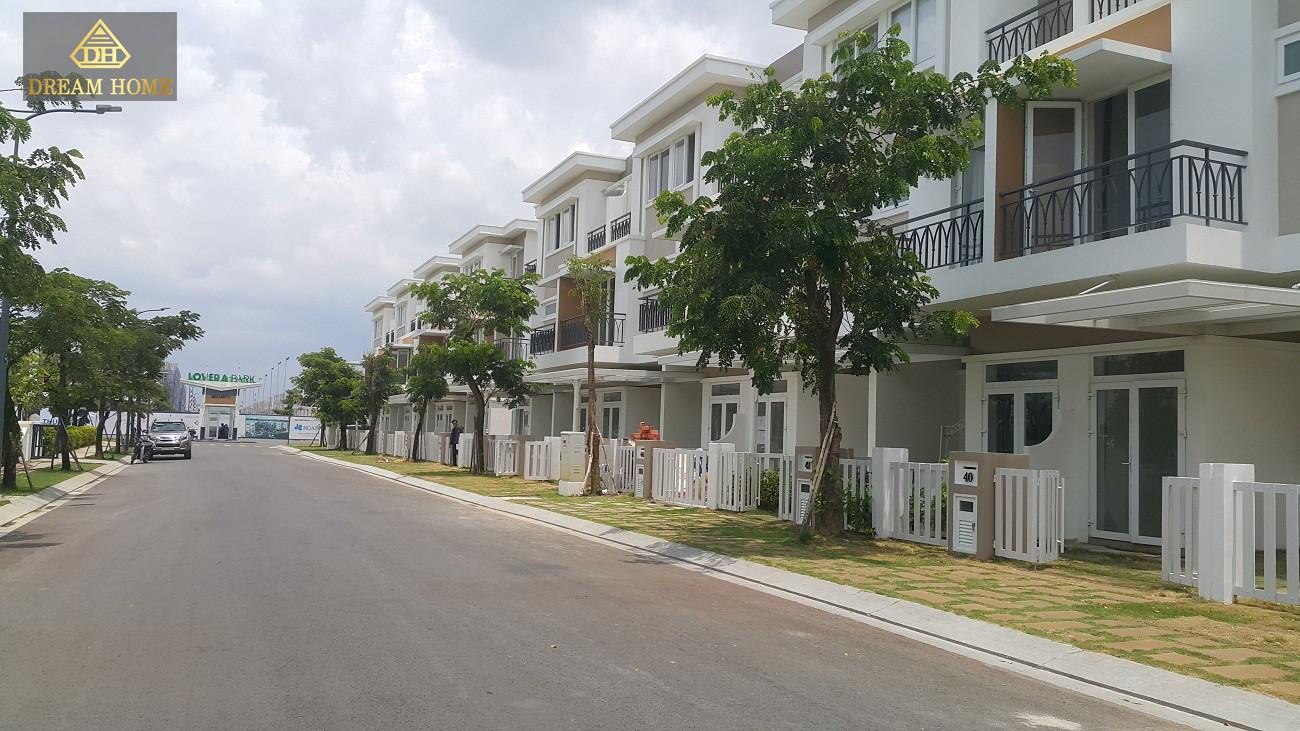 Hình ảnh dãy nhà thực tế của dự án Lovera Park Bình Chánh