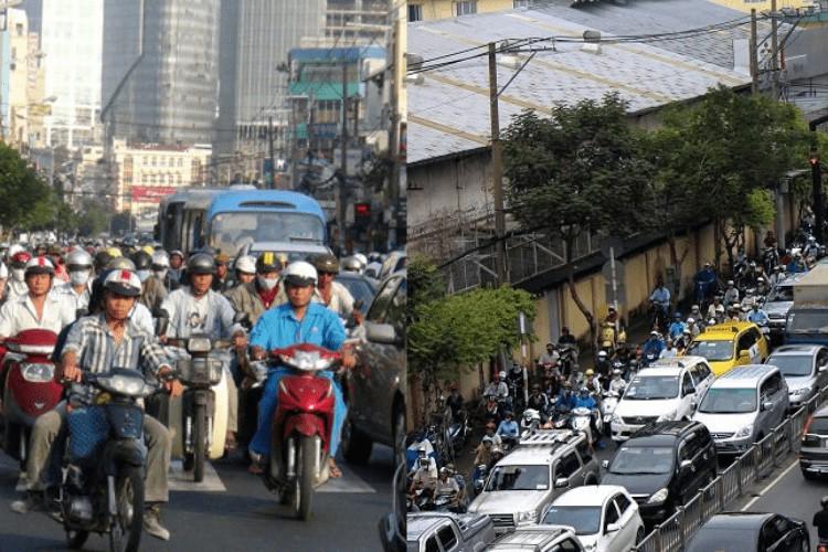 Kẹt xe đường Nguyễn Tất Thành