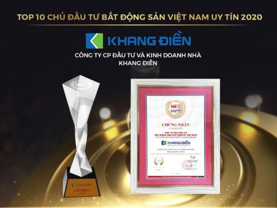KHANG ĐIỀN (KDH) TỰ HÀO GÓP MẶT TRONG TOP 10 CHỦ ĐẦU TƯ BĐS VN UY TÍN 2020