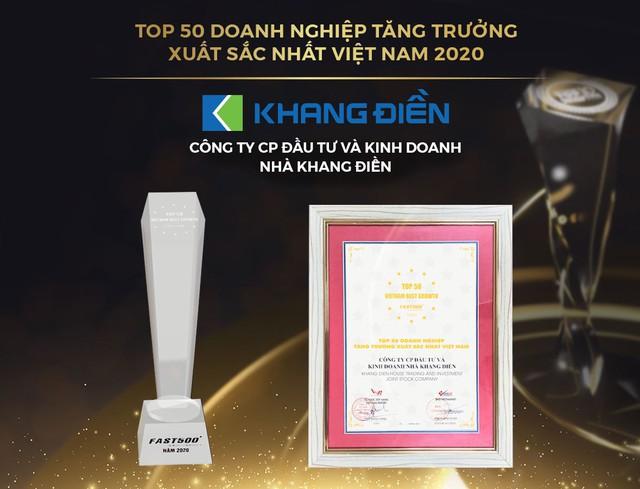 KDH được xướng danh trong Top 50 doanh nghiệp tăng trưởng xuất sắc nhất Việt Nam 2020