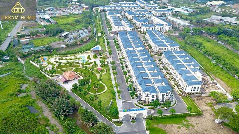 tiến độ dự án verosa park khang điền view từ trên cao