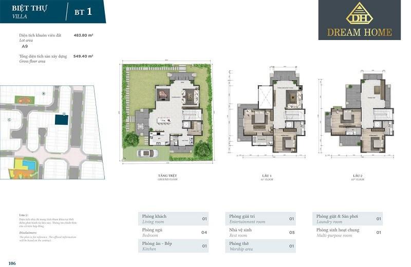 thiết kế nhà liền kề BT1 verosa park khang điền quận 9